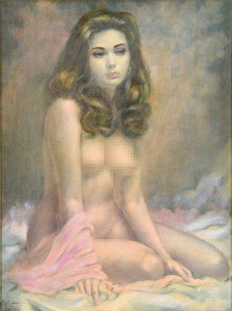 Vincent 裸女 油畫