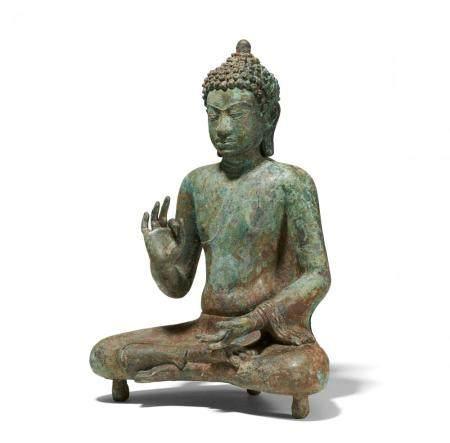 Rare and important sitting Buddha