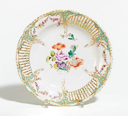Porcelain platter from the 2nd Potsdam service