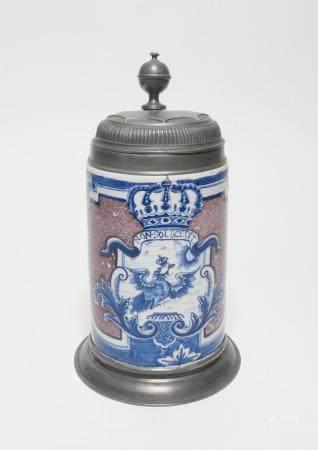 Ceramic tankard with prussian eagle