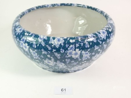 A Chinese blue and white prunus blossom bowl, 26cm diameter