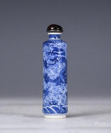 A Blue and White Snuff Bottle YongZheng Mark