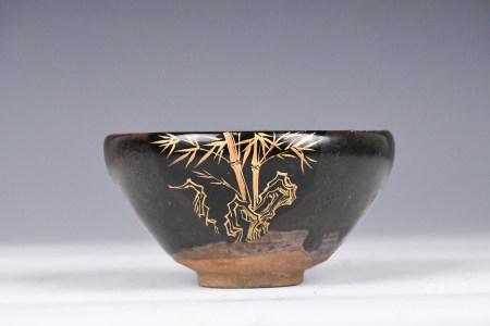 A Chinese Gilt Cizhou Tea Bowl Jing Dynasty