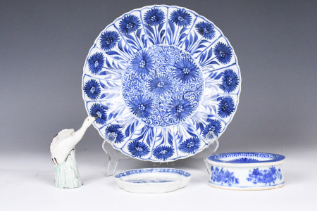 A Group of Chinese Blue and White Articles Qing