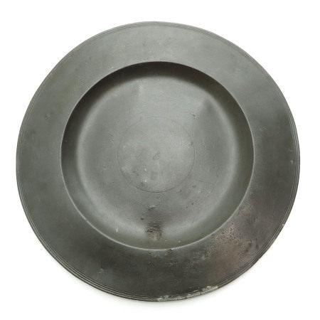 An 18th Century Tin Cardinal's Dish