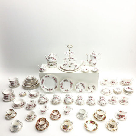 A Very Large Collection of Royal Albert Tableware