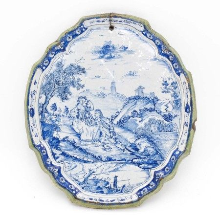 An 18th Century Delft Plaque