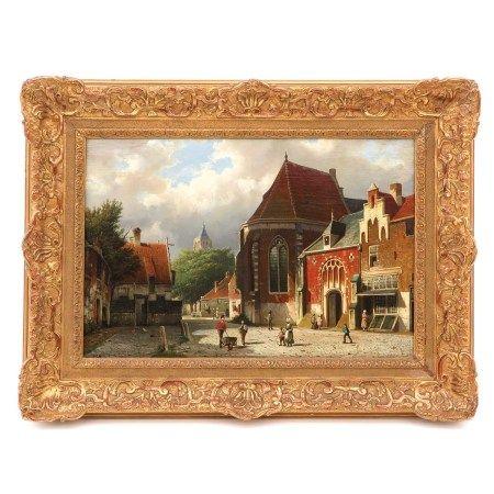 An Oil on Canvas Signed W. Koekkoek