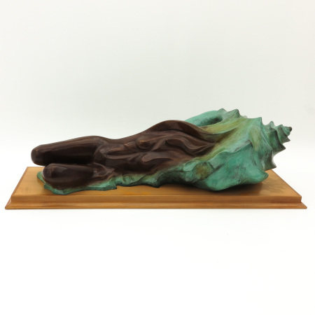 A Bronze Sculpture of Lady and Shell