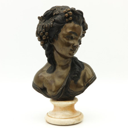 A Bronze Bust on Marble Base