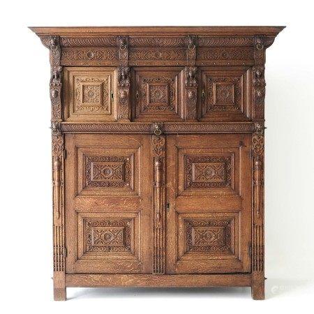 A 17th Century 5 Door Flemish Cabinet