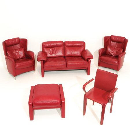 A Collection of Red Leather Furniture