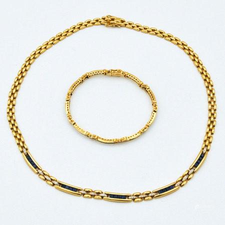 An 18KG  Necklace and Bracelet