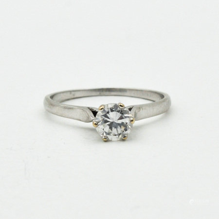 A Ladies 14KG Diamond Solitaire Ring