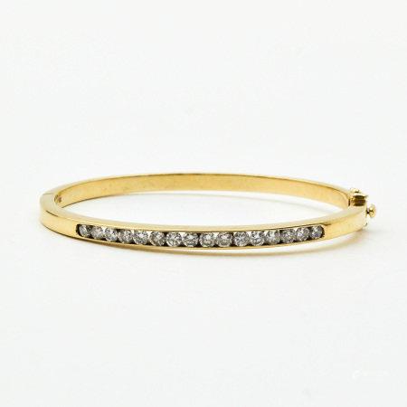 A Ladies 14KG Diamond Bracelet