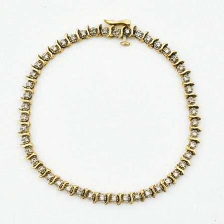 A 14KG Diamond Tennis Bracelet