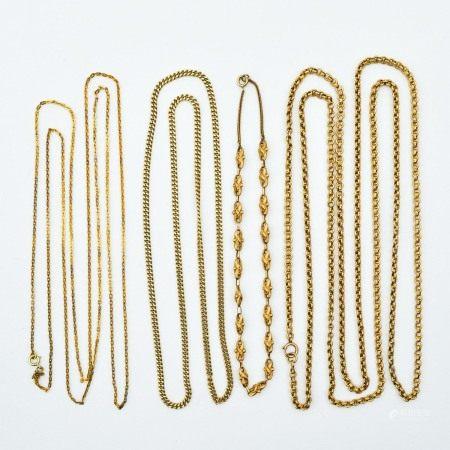 A Lot of 4 14KG Necklaces