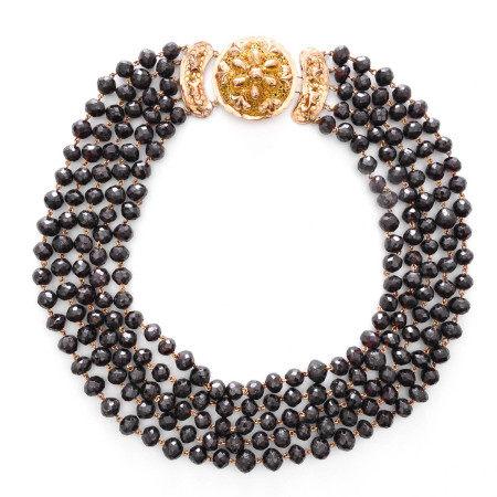 A 5 Strand Garnet Necklace