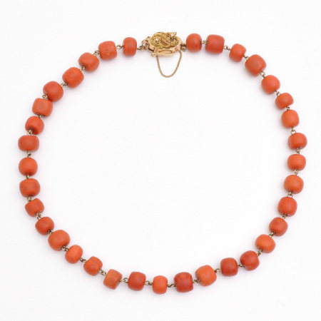 A Fine 19th Century Red Coral Necklace