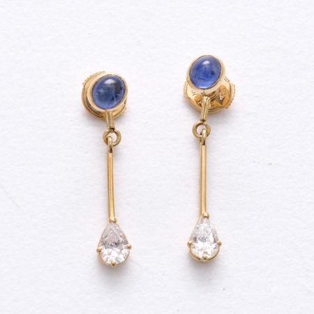 A Pair of 14KG Diamond Earrings