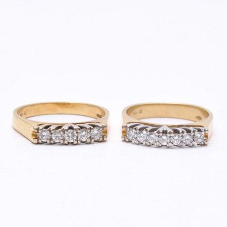 A Lot of 2 18KG Diamond Rings
