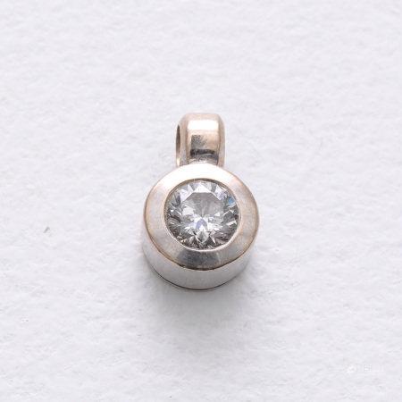 A Diamond Solitaire Pendant
