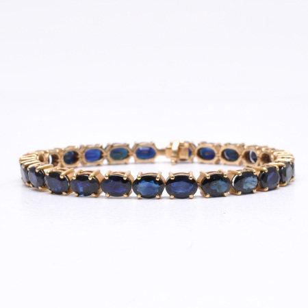 A 14KG Sapphire Bracelet