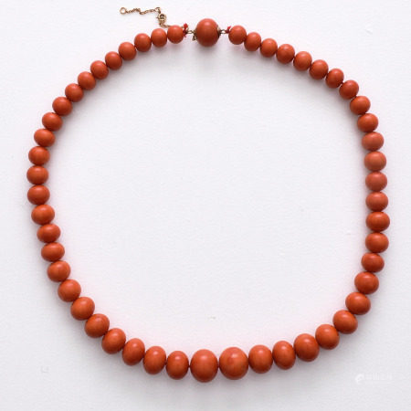 A Red Coral Necklace