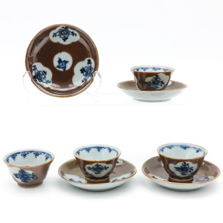 A Set of 3 Cups and Saucers