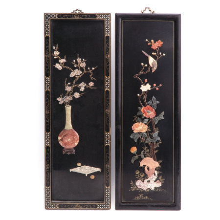 A Pair of Chinese Wall Hangings