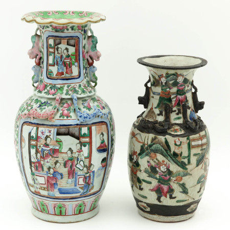 A Nanking and Cantonese Vase