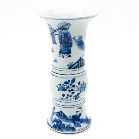 A Blue and White Gu Vase