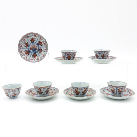 A Collection of 6 Imari Cups and Saucers