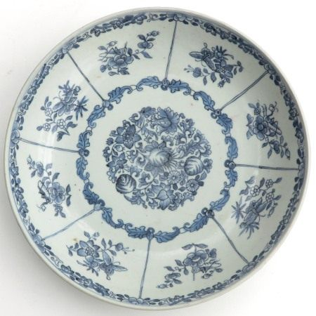 A Blue and White Serving Plate