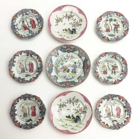 A Collection of 9 Plates