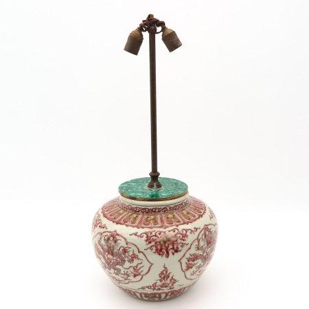 A Red Dragon Decor Lamp