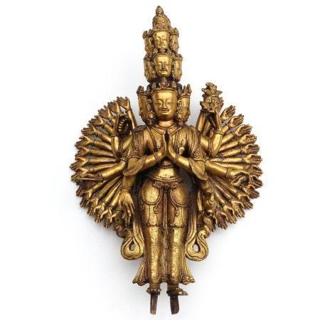 A Bronze Tibetan Avalokitseshvara Sculpture