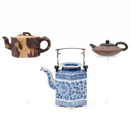 A Collection of 3 Teapots