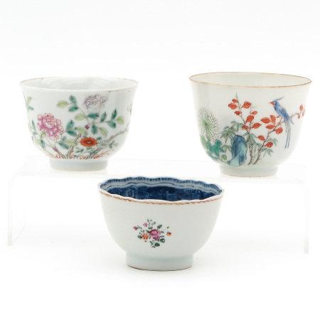 Three Polychrome Cups