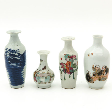A Lot of 4 Small Vases
