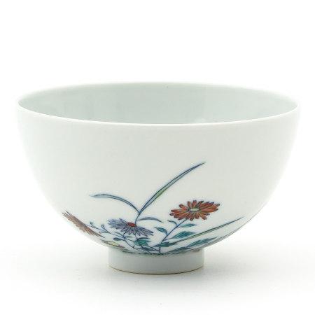 A Polychrome Decor Cup