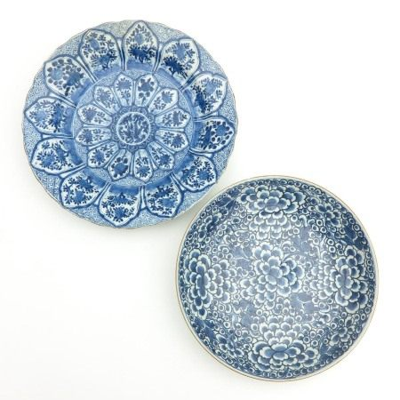 Two Blue and White Chargers