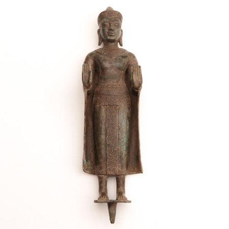 A Bronze Cambodian Buddha
