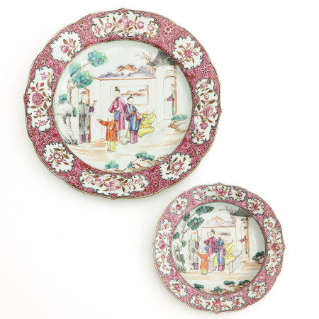 A Famille Rose Charger and Plate