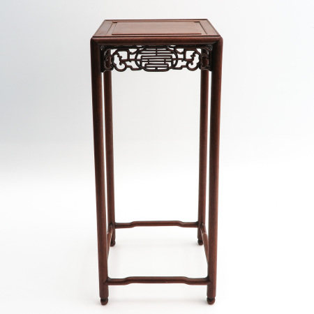 A Carved Wood Side Table
