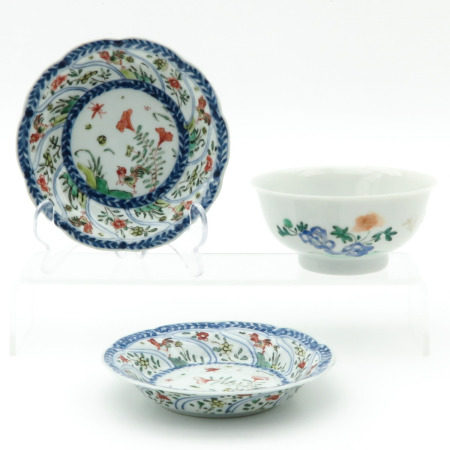 A Bowl and 2 Small Plates