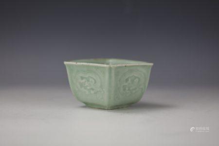 Dragon Pattern Celadon-Glazed Porcelain Square Water Pot