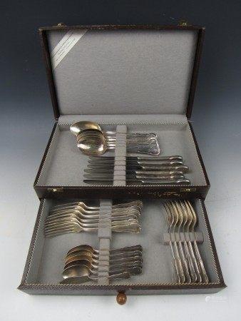 A Box Set of WMF (Württembergische Metallwarenfabrik) Brand 30 Pcs Flatwares