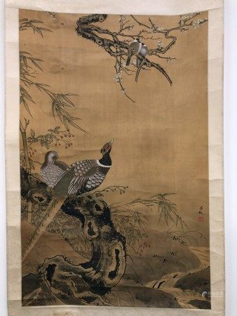 A Chinese Painting of Birds depicting COUPLES by Lu Ji