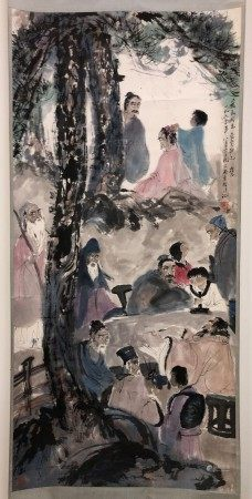 A Chinese Painting of Sages in the Forrest by Fu Bao Shi